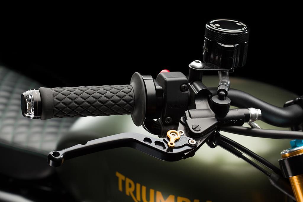 2014 Triumph Scrambler adjustable brake and clutch levers