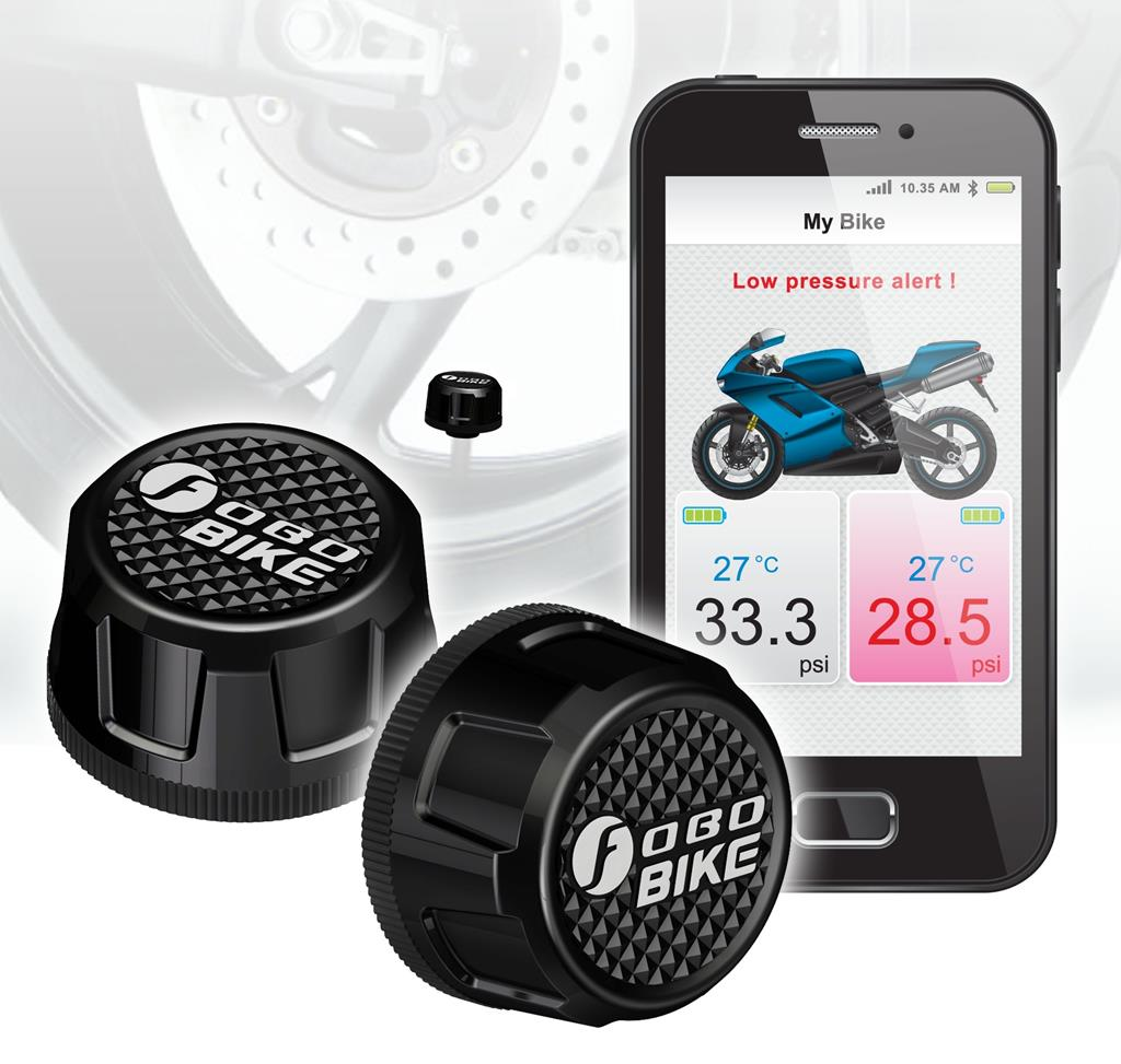 Fobo Motorcycle TPMS with Mobile Application