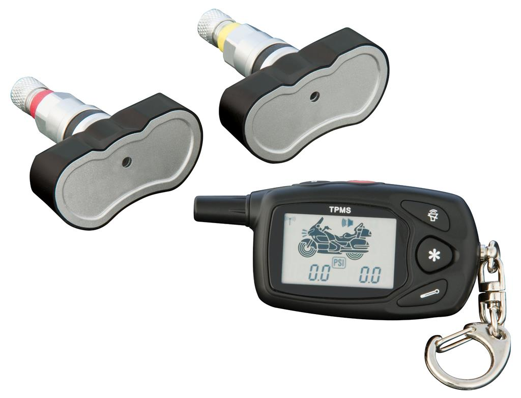 Motorcycle TPMS with internal pressure sensors