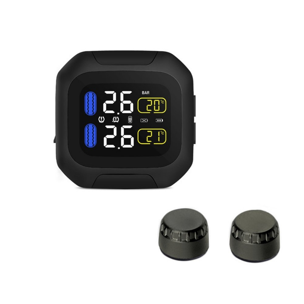 Motorcycle TPMS with built-in Temperature sensor