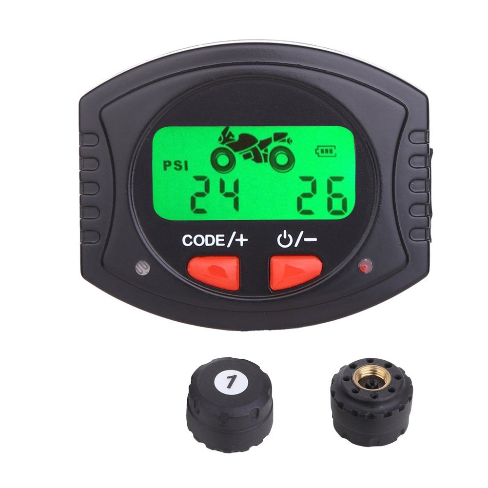 Motorcycle TPMS with handlebar display module