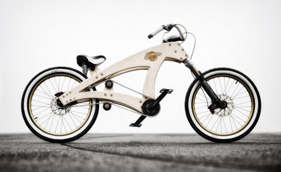Sawyer Beachcruiser Plywood Bicycle by Jurgen Kuipers