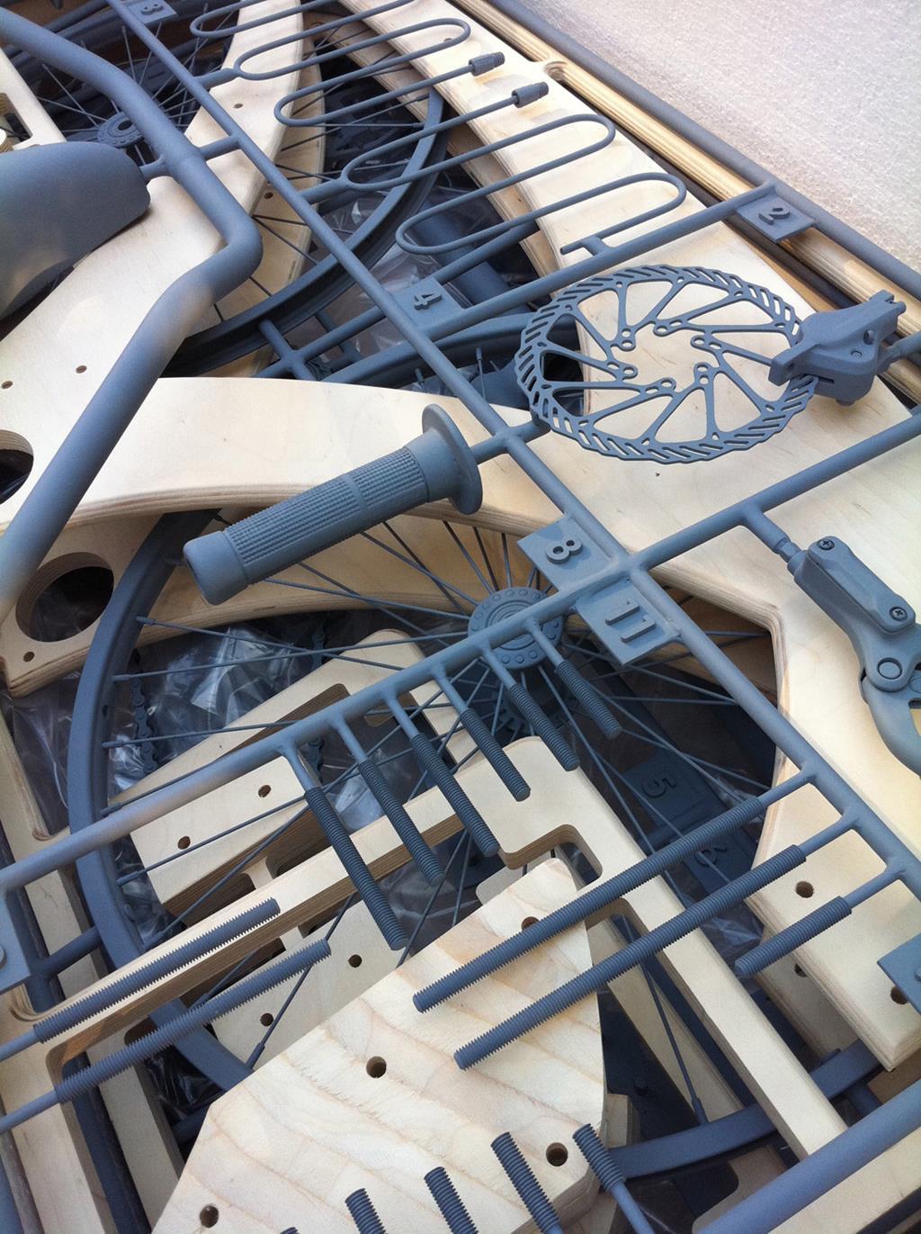 Sawyer Beachcruiser Plywood Bicycle by Jurgen Kuipers
