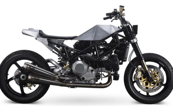 "Custom Ducati Monster ""Warthog"" by Anvil Motociclette"