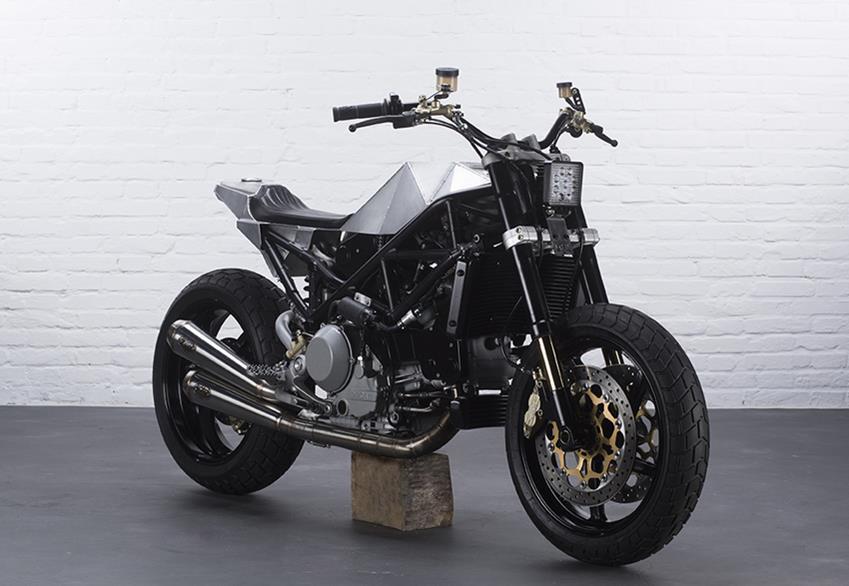 """Custom Ducati Monster """"Warthog"""" by Anvil Motociclette"""