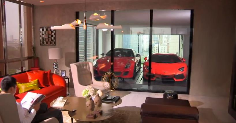 Luxurious High-Rise Apartment with Car Lift