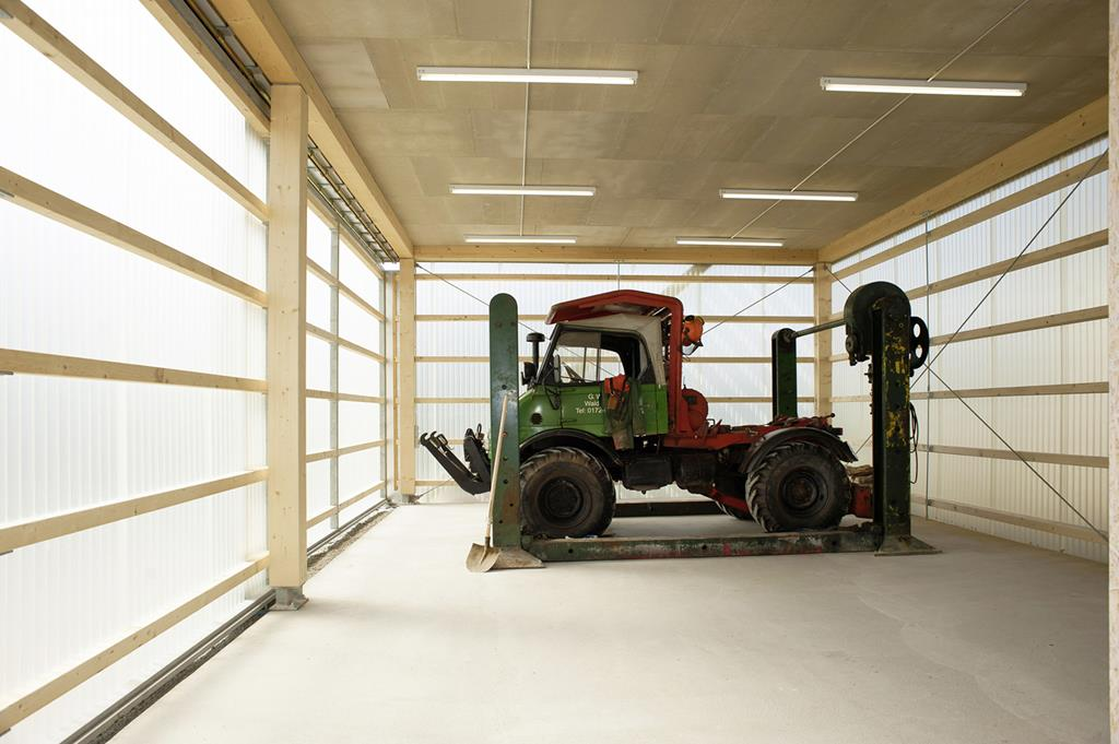 House for Man and His beloved Unimog